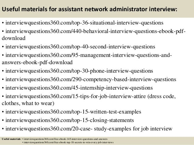 13 useful materials for assistant network administrator interview - Network Administrator Interview Questions And Answers
