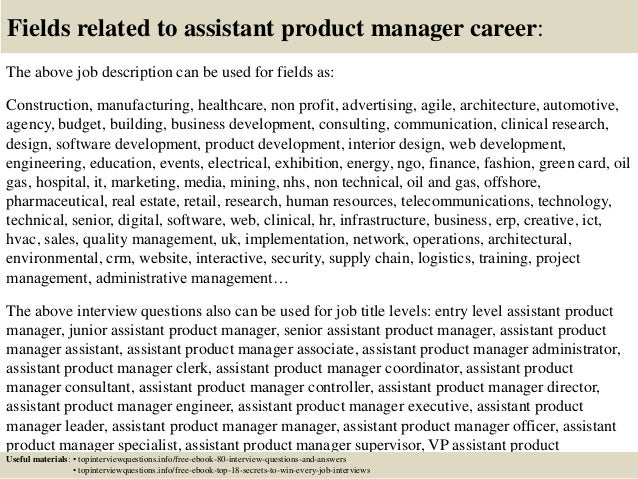 Top 10 assistant product manager interview questions and answers