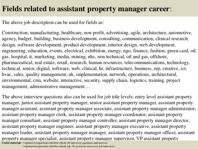Top 10 assistant property manager interview questions and answers
