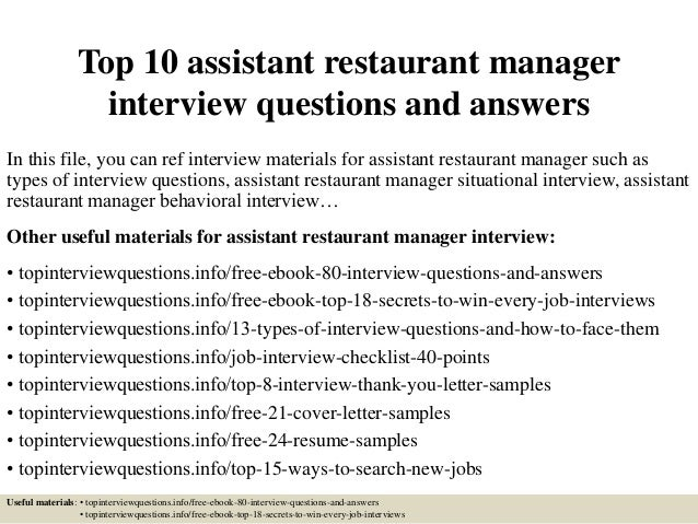 top10assistantrestaurantmanagerinterviewquestions andanswers1638jpgcb1504877624