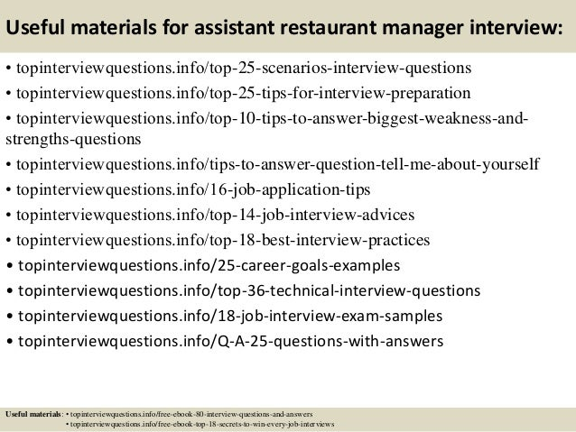 13 useful materials for assistant restaurant manager assistant restaurant manager job description