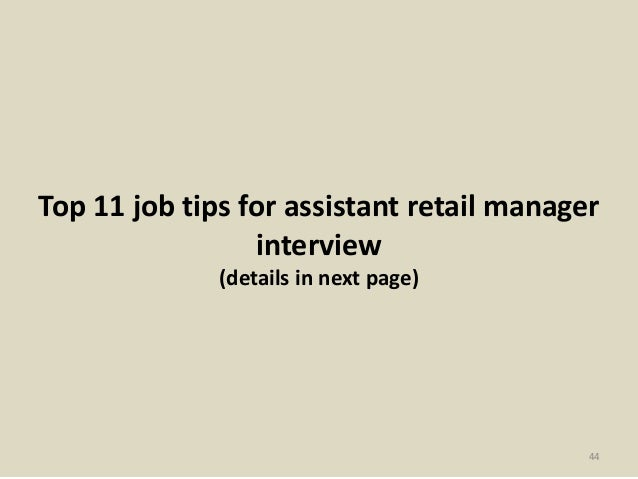 44. Top 11 Job Tips For Assistant Retail ...