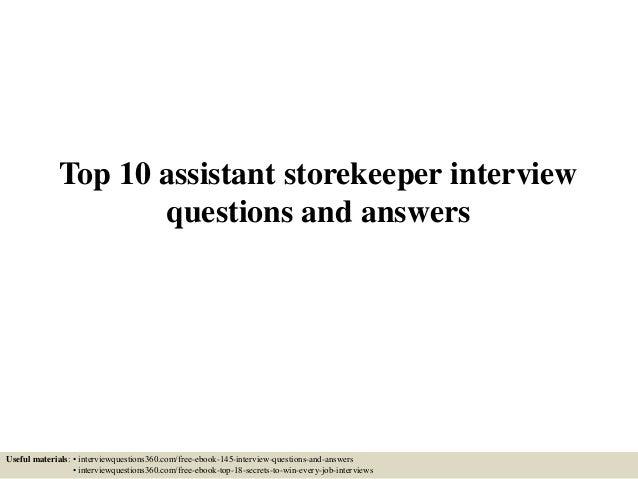 Top 10 assistant storekeeper interview questions and answers 1 638gcb1433297008 top 10 assistant storekeeper interview questions and answers useful materials interviewquestions360 fandeluxe Gallery