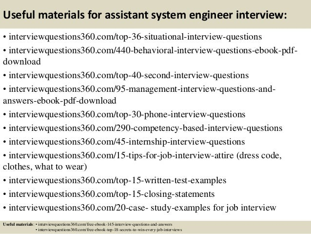 Top  Assistant System Engineer Interview Questions And Answers