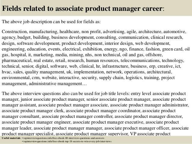 associate product manager job description - Ronni kaptanband co