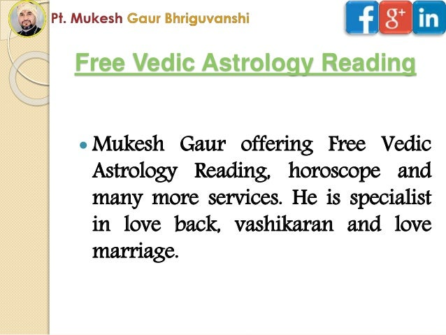 Vedic astrology free predictions  Free Marriage Prediction