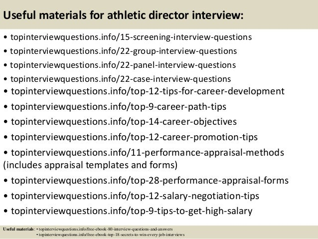 Top 10 athletic director interview questions and answers