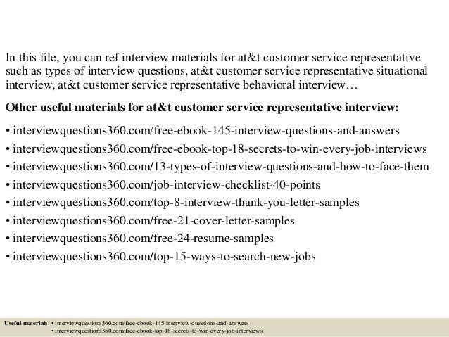 Top 10 Atu0026t Customer Service Representative Interview Questions And Answers  Customer Service Interview Questions