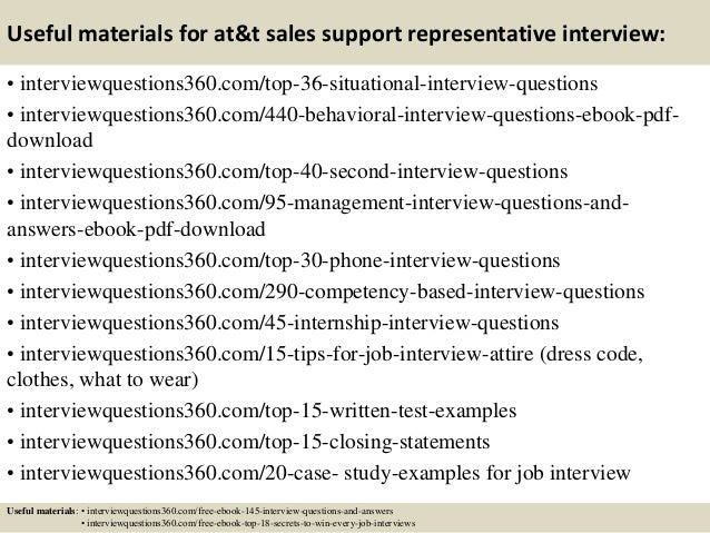 Top 10 At T Sales Support Representative Interview Questions And Answ