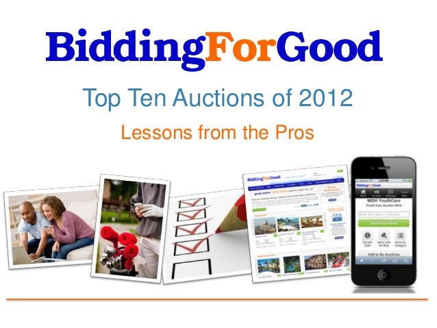 Top Ten Auctions of 2012   Lessons from the Pros