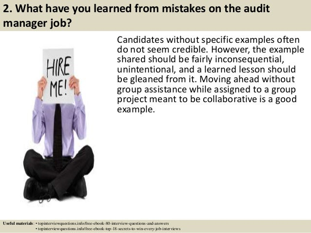Top 10 audit manager interview questions and answers