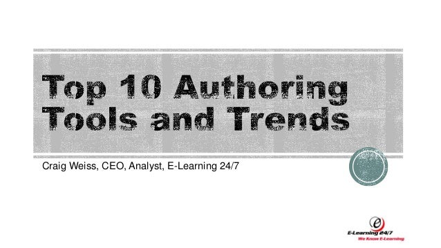 Craig Weiss, CEO, Analyst, E-Learning 24/7