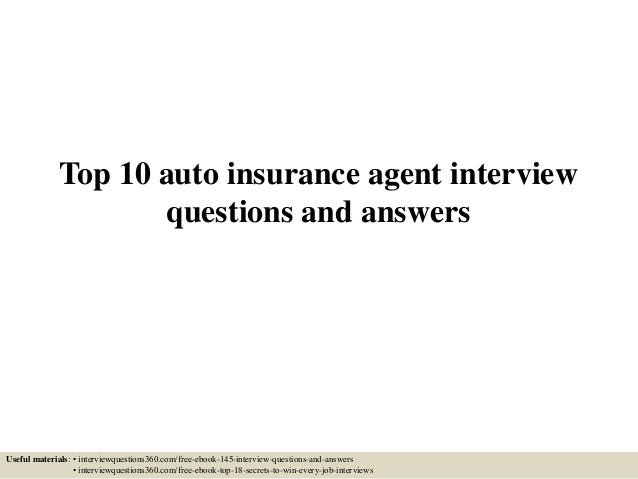 interview nationwide insurance agent questions