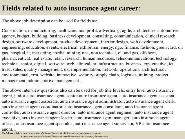 Top  Auto Insurance Agent Interview Questions And Answers