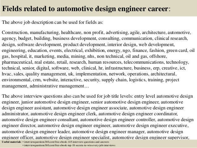 Lovely ... 18. Fields Related To Automotive Design Engineer Career: The Above Job  Description ...