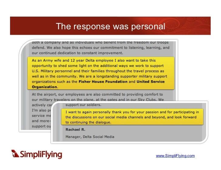 The response was personal                      www.SimpliFlying.com