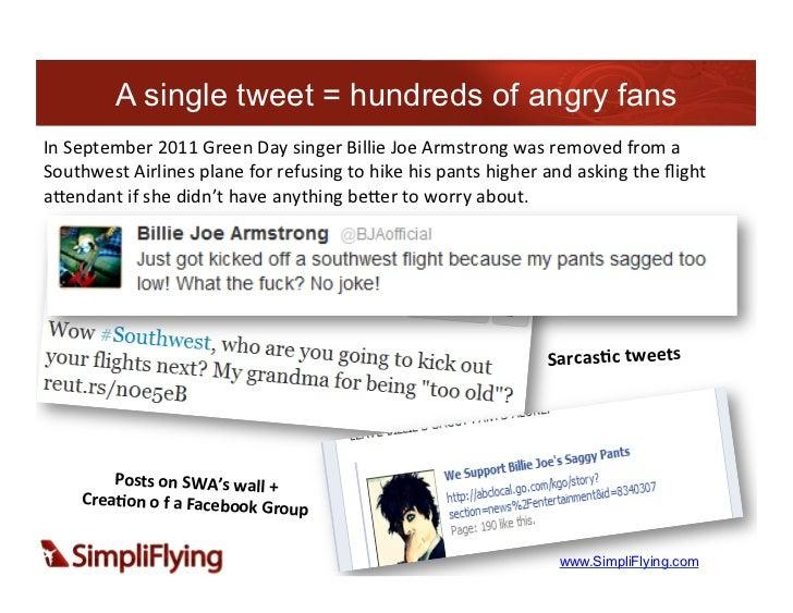 A single tweet = hundreds of angry fansIn September 2011 Green Day singer Billie Joe Armstrong was rem...