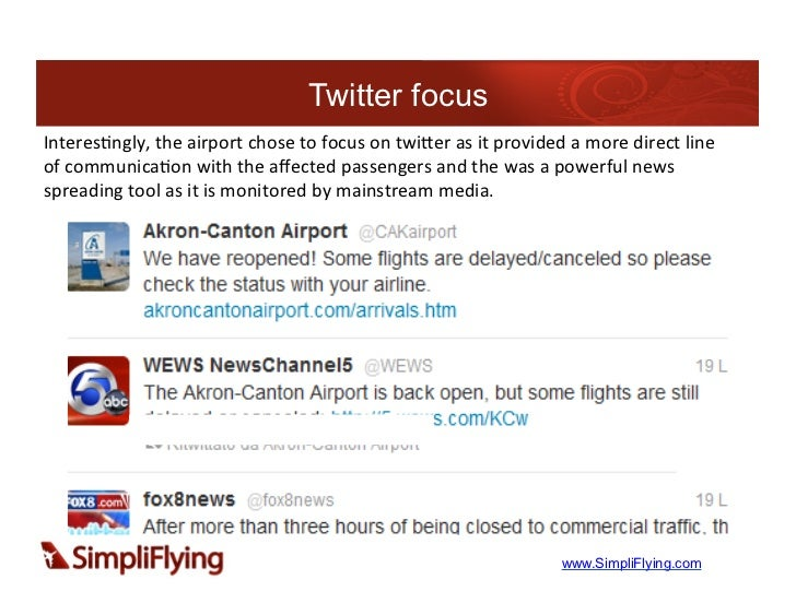 Twitter focusInteres7ngly, the airport chose to focus on twiLer as it provided a more direct l...
