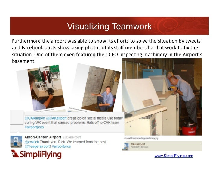 Visualizing TeamworkFurthermore the airport was able to show its efforts to solve the situa7on by...
