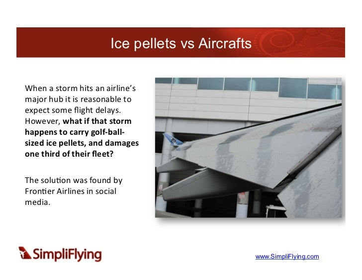 Ice pellets vs AircraftsWhen a storm hits an airline's major hub it is reasonable to expect some...