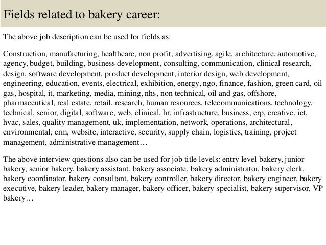 Top 10 bakery interview questions and answers
