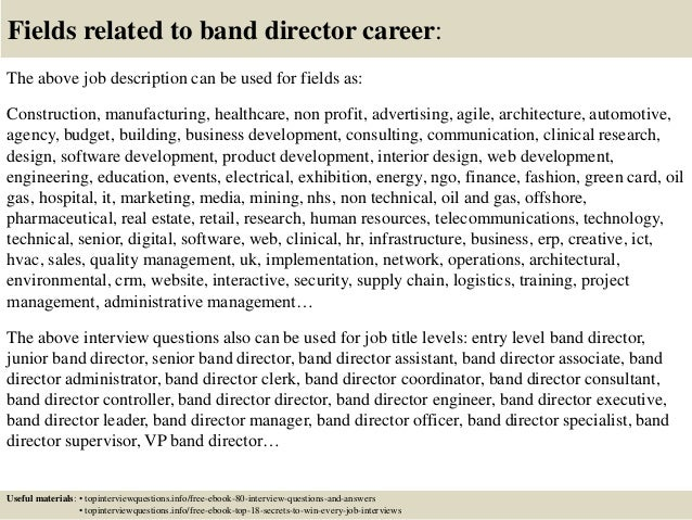 Band Director Resume Cover Letter. barn manager sample resume ...
