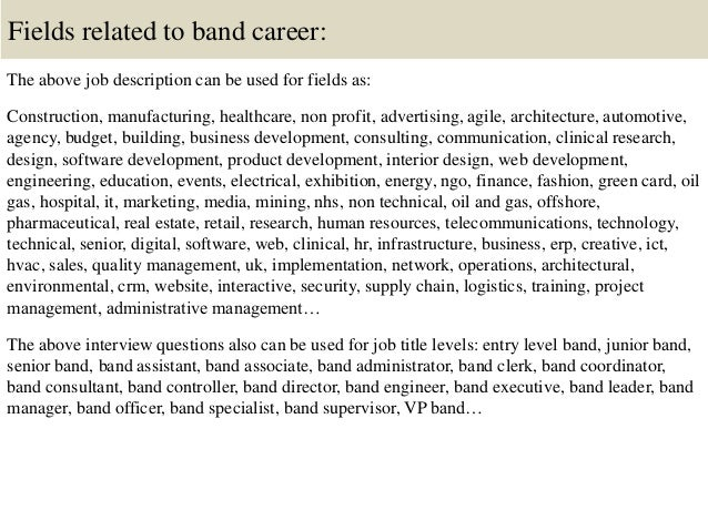 Top 10 band interview questions and answers