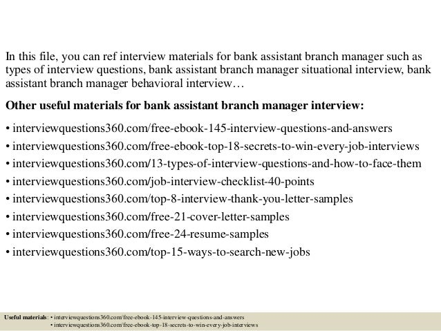 assistant branch manager cover letter