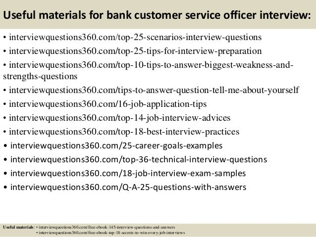 Top 10 bank customer service officer interview questions and
