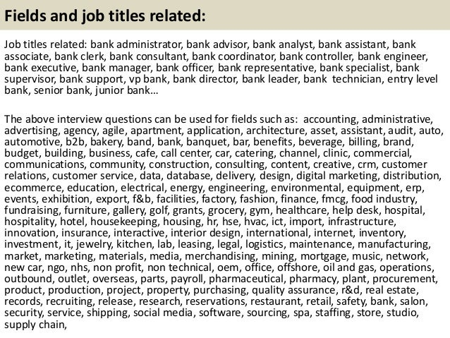 interview rounds and how to prepare 21 - Banking Interview Questions And Answers