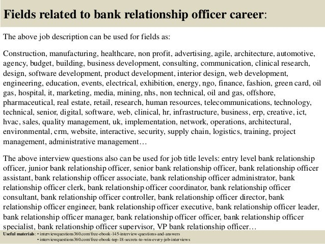 relationship banker interview questions