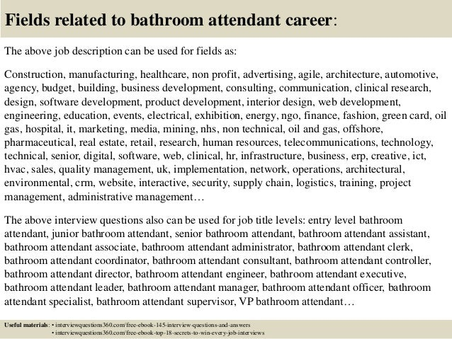 Bathroom Attendant top 10 bathroom attendant interview questions and answers
