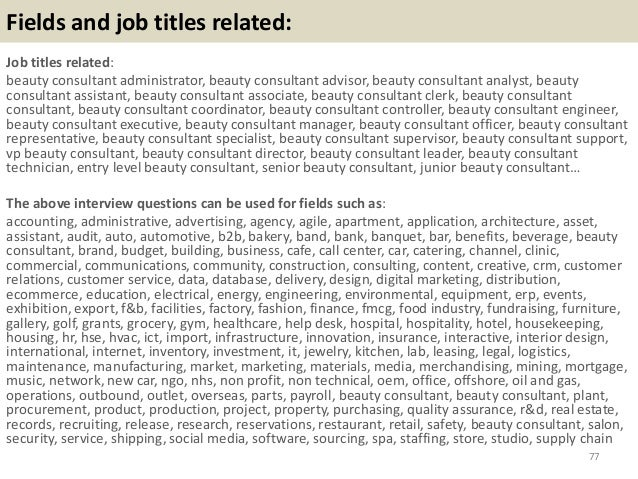 Cover letter beauty consultant