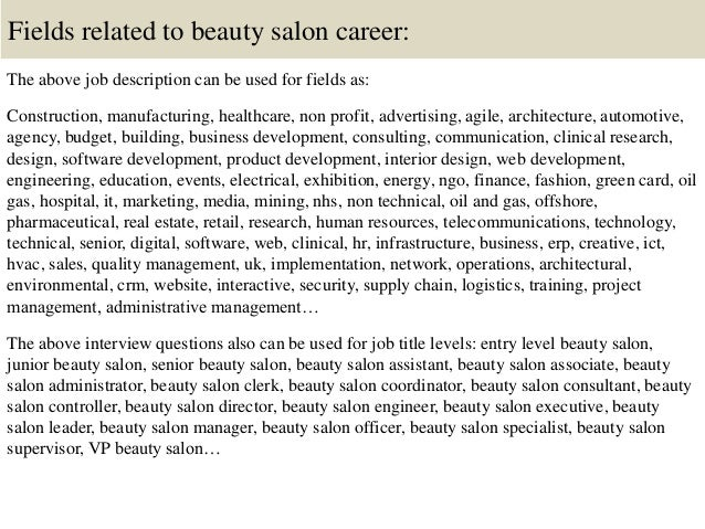 Top 10 beauty salon interview questions and answers
