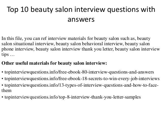 Top 10 beauty salon interview questions with answers top 10 beauty salon interview questions with answers in this file you can ref interview spiritdancerdesigns Choice Image