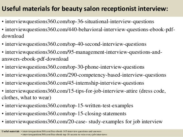 13 Useful Materials For Beauty Salon Receptionist Interview