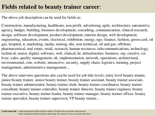 Top 10 beauty trainer interview questions and answers