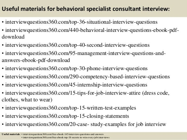 Top 10 behavioral specialist consultant interview questions and answe…