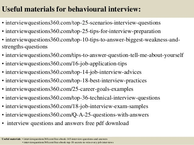how to write behavioural interview questions
