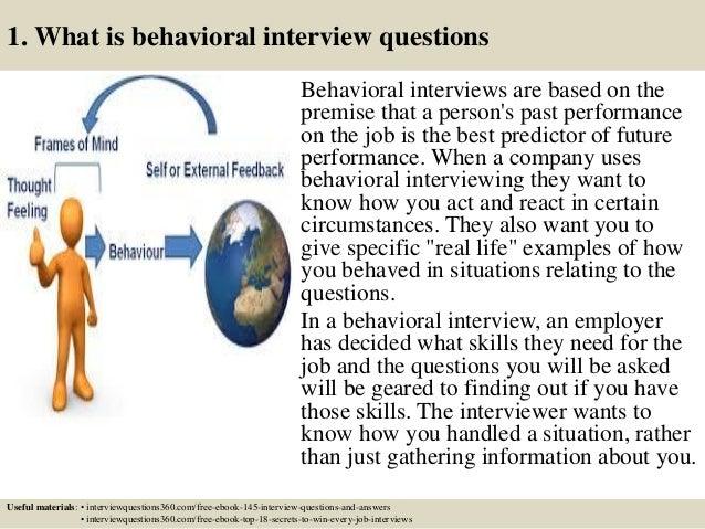 interview behavior
