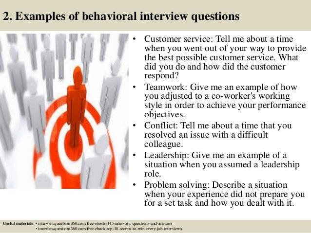 sample behavioral interview questions and answers star interview