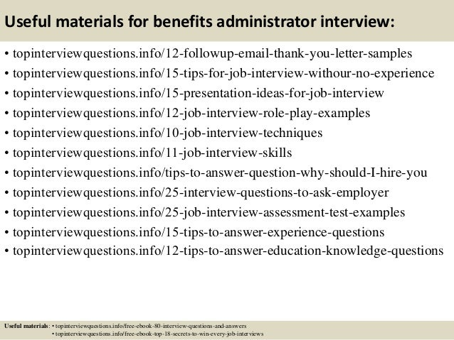 14 useful materials for benefits administrator - Job Description For Benefits Administrator