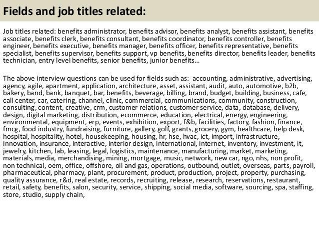 21 fields and job benefits analyst job description