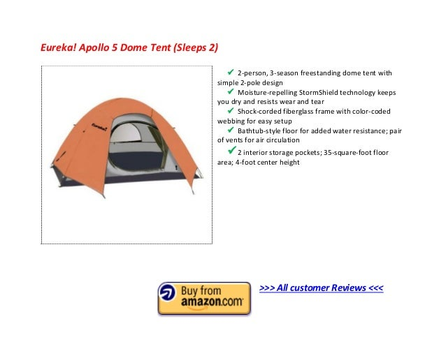Eureka! Apollo 5 Dome Tent ...  sc 1 st  SlideShare & Top 10 Best 2 Man Tent 2013 - 2 Person Tent Reviews to Buy
