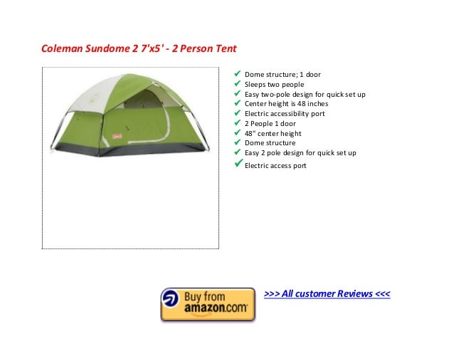 2.  sc 1 st  SlideShare & Top 10 Best 2 Man Tent 2013 - 2 Person Tent Reviews to Buy