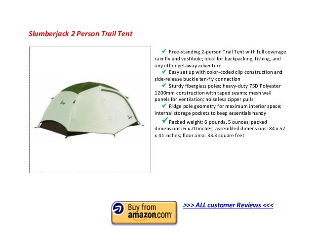 Slumberjack 2 Person Trail Tent? ...  sc 1 st  SlideShare & Top 10 Best 2 Man Tent 2013 - 2 Person Tent Reviews to Buy