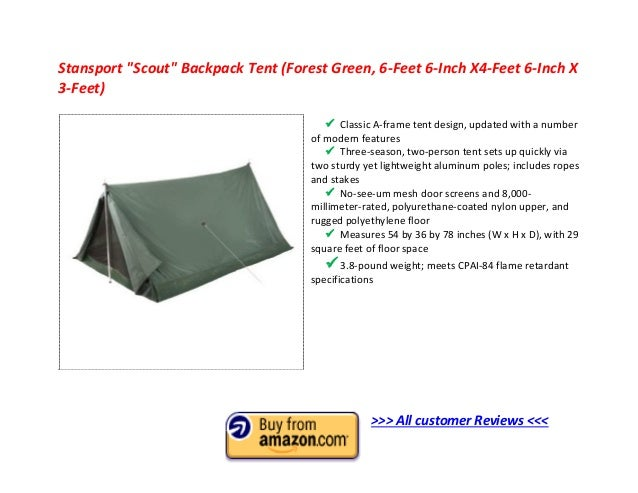 Stansport  Scout  Backpack Tent ...  sc 1 st  SlideShare & Top 10 Best 2 Man Tent 2013 - 2 Person Tent Reviews to Buy