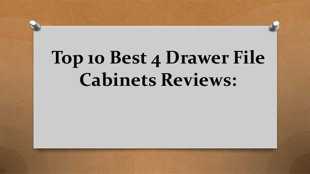Top 10 Best 4 Drawer File Cabinets Reviews: