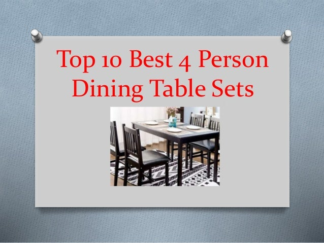 Top 10 Best 4 Person Dining Table Sets In 2019