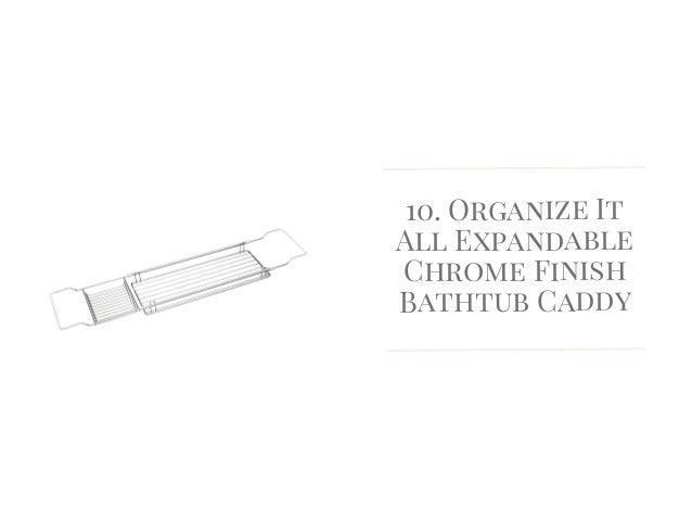 Bathtub Caddy Expandable in Grey